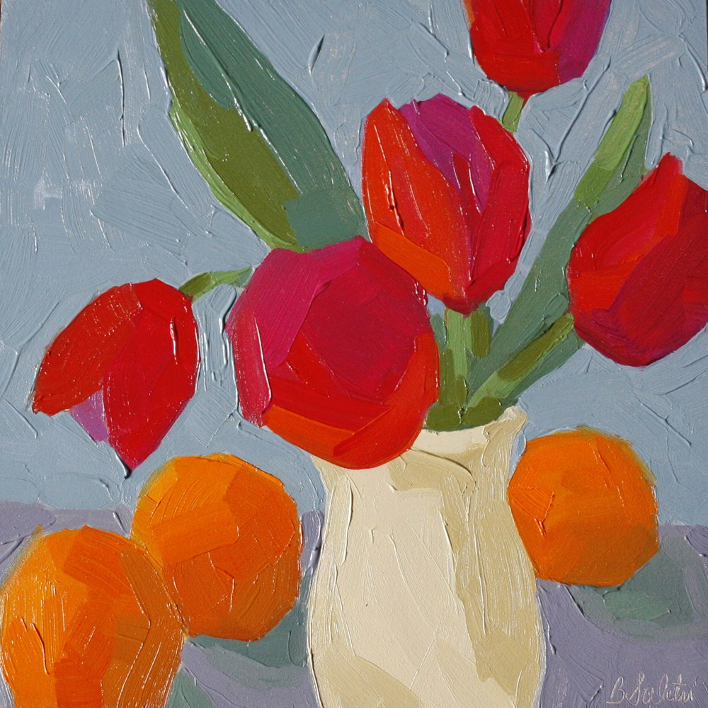 """Tulips and Oranges"" original fine art by Barb Saletri"