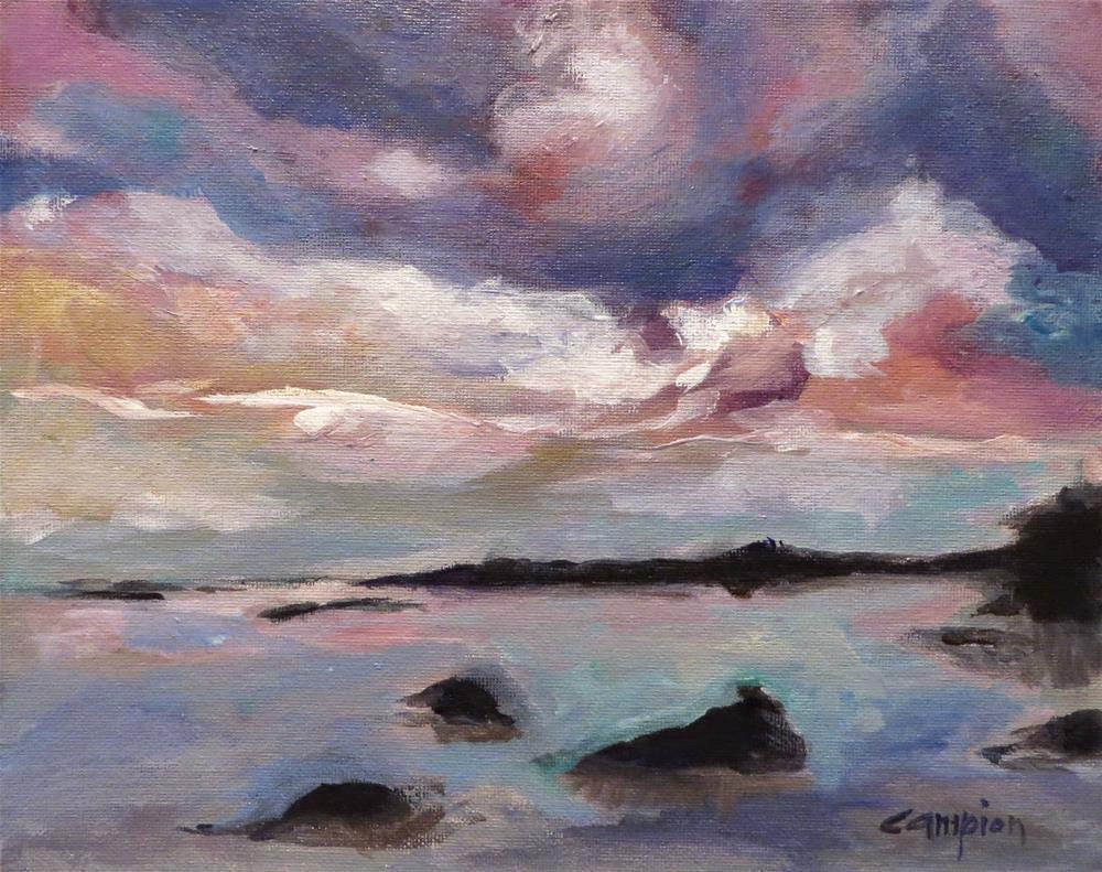 """559 Lake Fanny Hoe, Copper Harbor, Michigan"" original fine art by Diane Campion"
