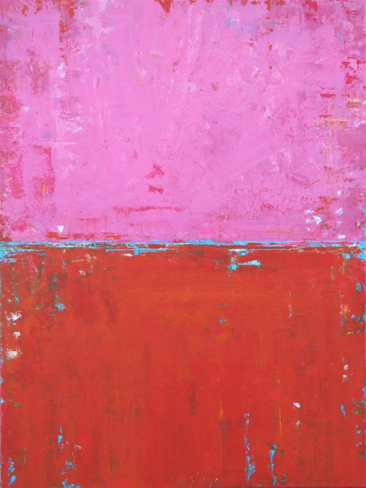 """""""Abstract in Pink and Orange IV"""" original fine art by Sage Mountain"""