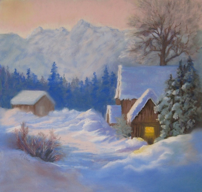 """Snowbound"" original fine art by Ruth Mann"