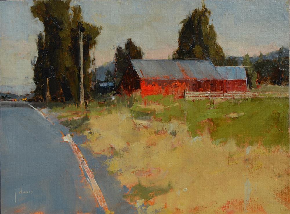 """""""Evening Commute"""" original fine art by Julie Davis"""