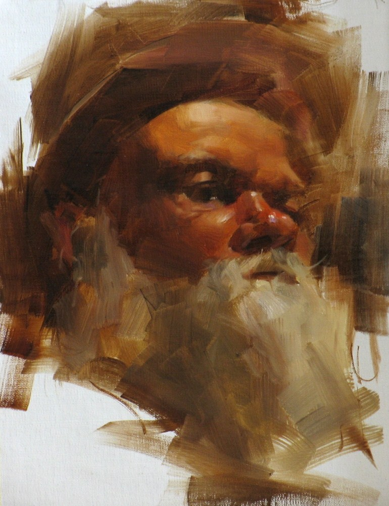 """Santa in August"" original fine art by Qiang Huang"