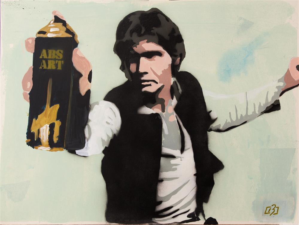 """""""Han Solo Street Art"""" original fine art by Andre Beaulieu"""