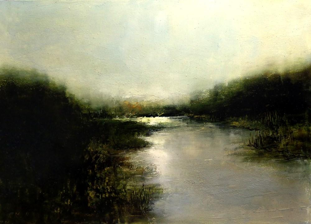 """Shallow River"" original fine art by Bob Kimball"