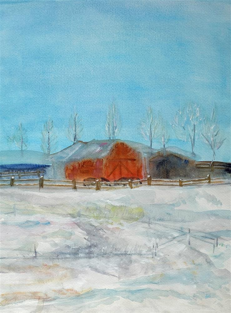 """Winter Light"" original fine art by Laura Denning"