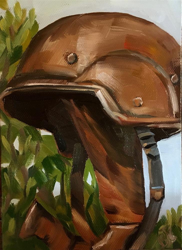 """""""A Bronze Memorial"""" original fine art by Bobbie Cook"""