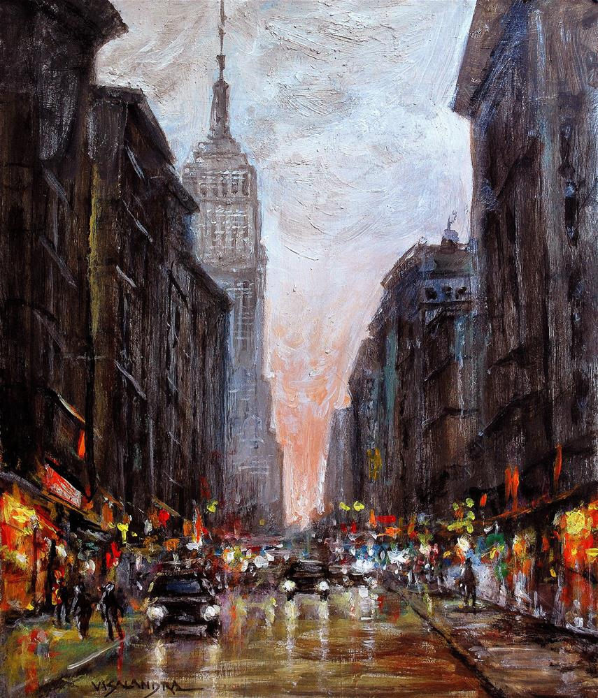 """Cityscape3"" original fine art by vishalandra dakur"