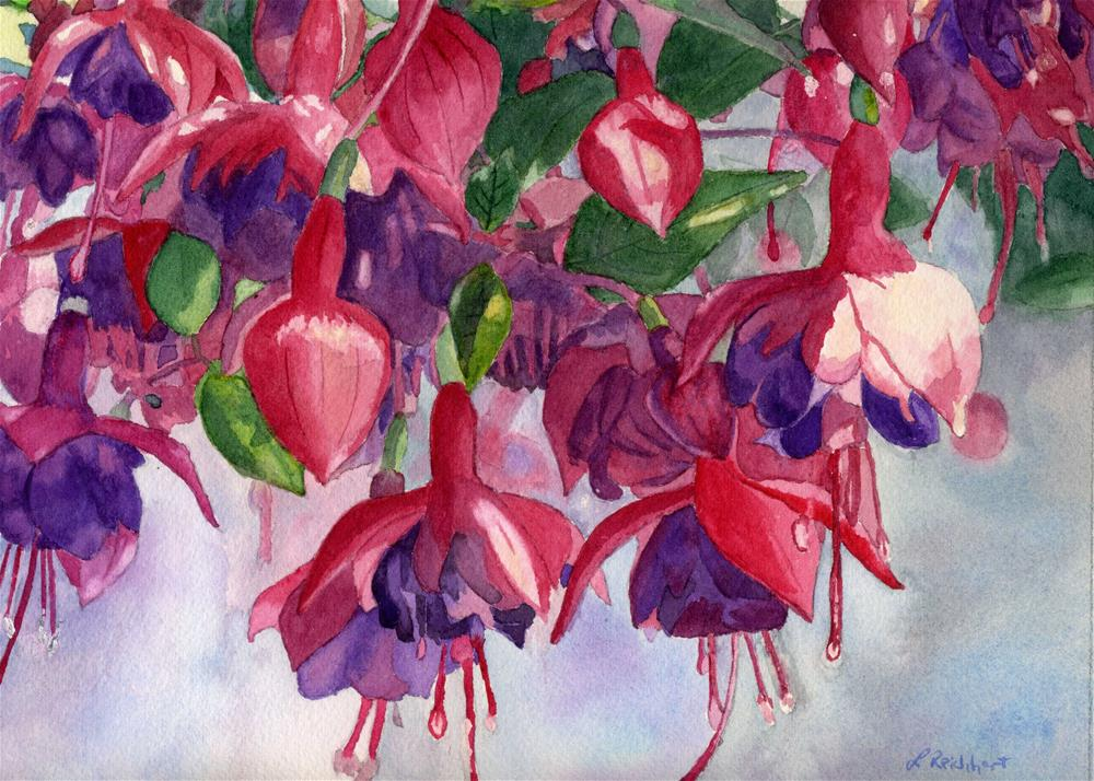 """""""Fuchsia Frenzy"""" original fine art by Lynne Reichhart"""