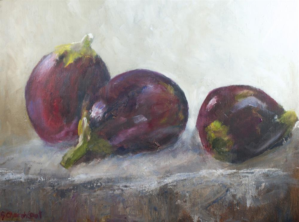 """Eggplant: Study"" original fine art by Sue Churchgrant"