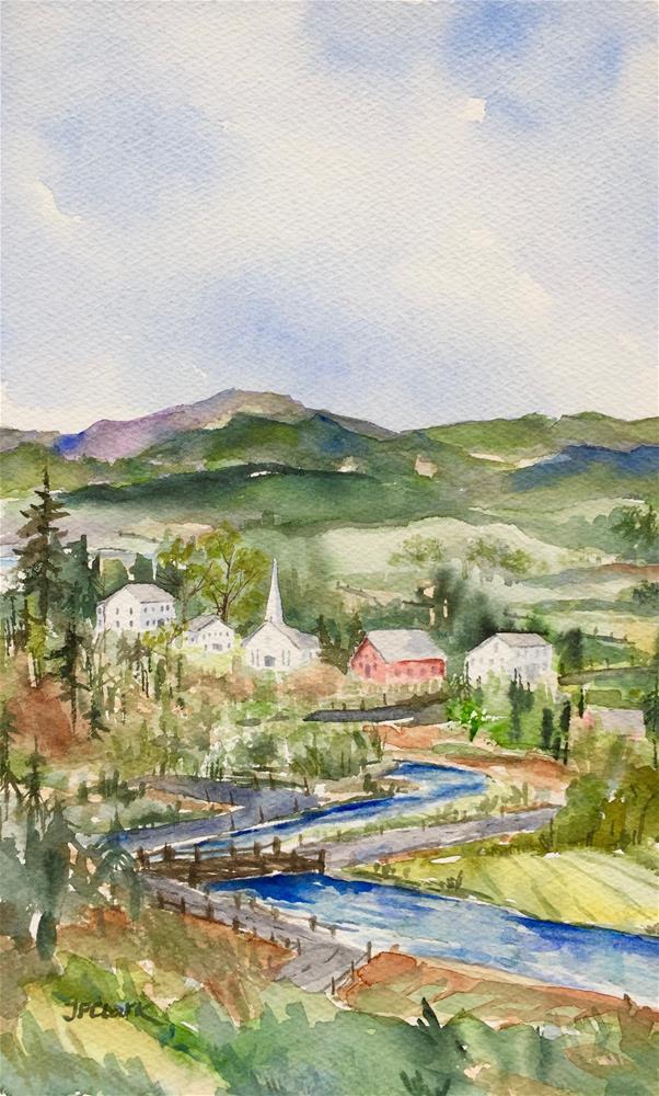 """""""Vermont Village"""" original fine art by Judith Freeman Clark"""