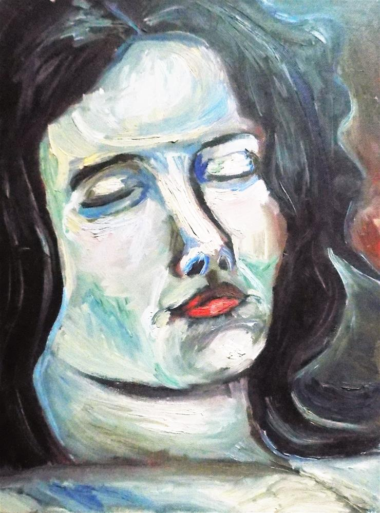 """Sleeping Woman expression "" original fine art by tara stephanos"