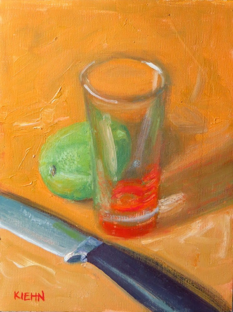 """Thinking Of Margarita"" original fine art by Richard Kiehn"