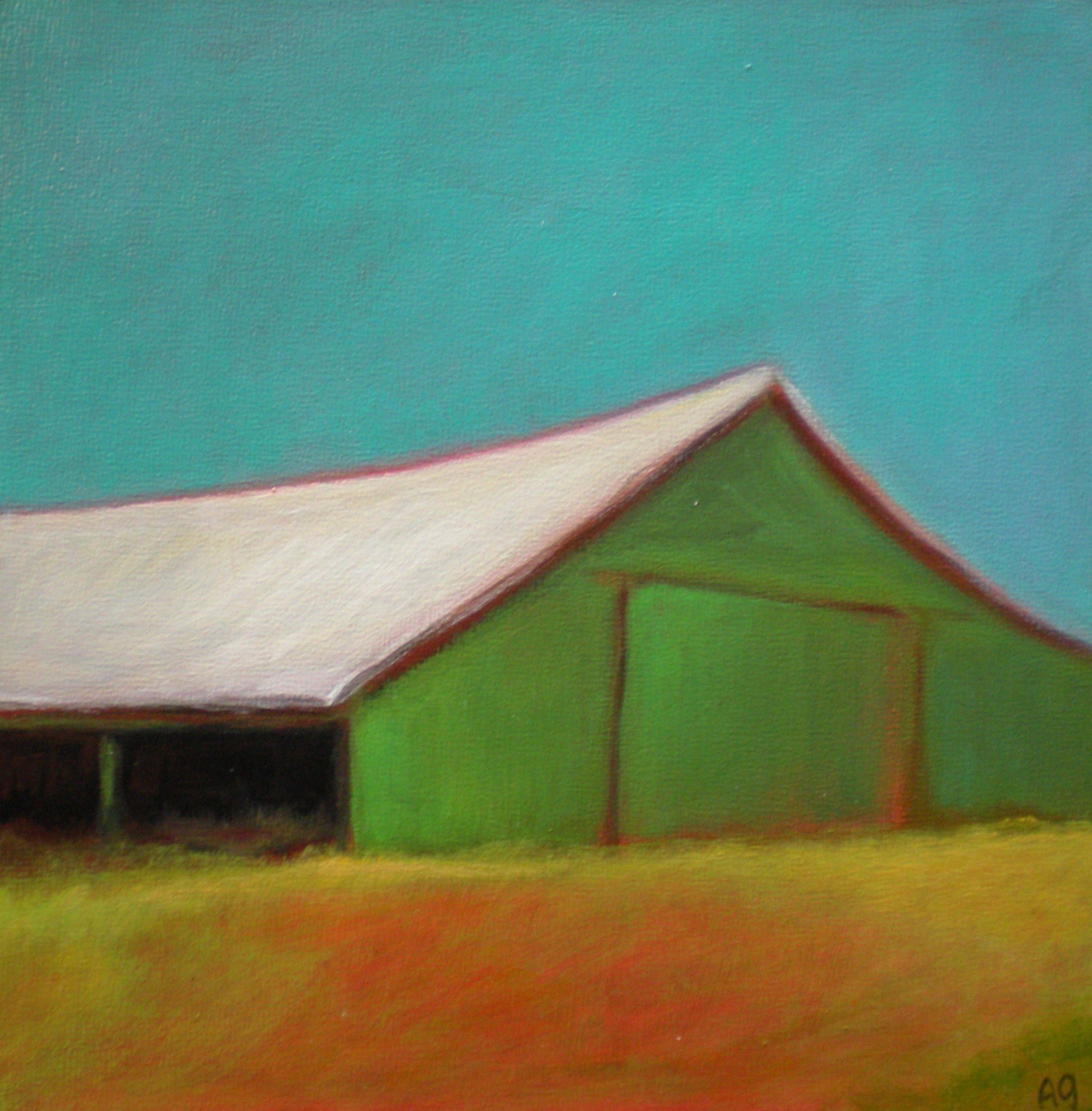 """Green is Good"" original fine art by Almira Hill Grammer"