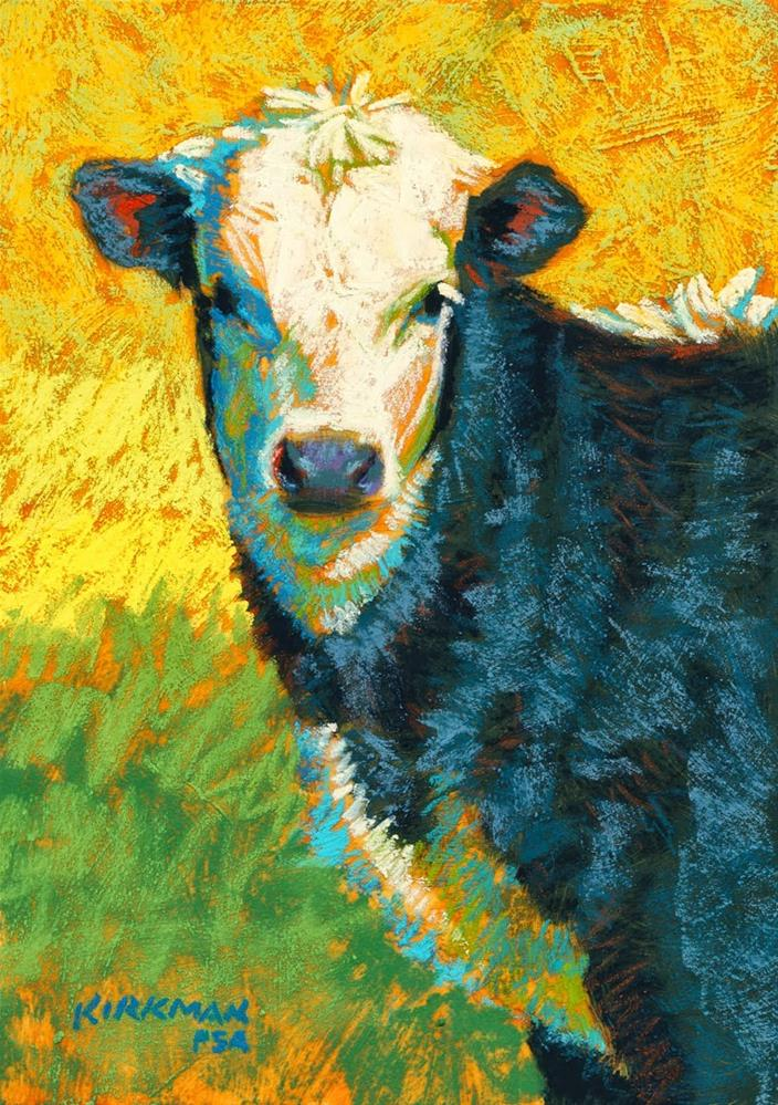 """Mini Moo"" original fine art by Rita Kirkman"