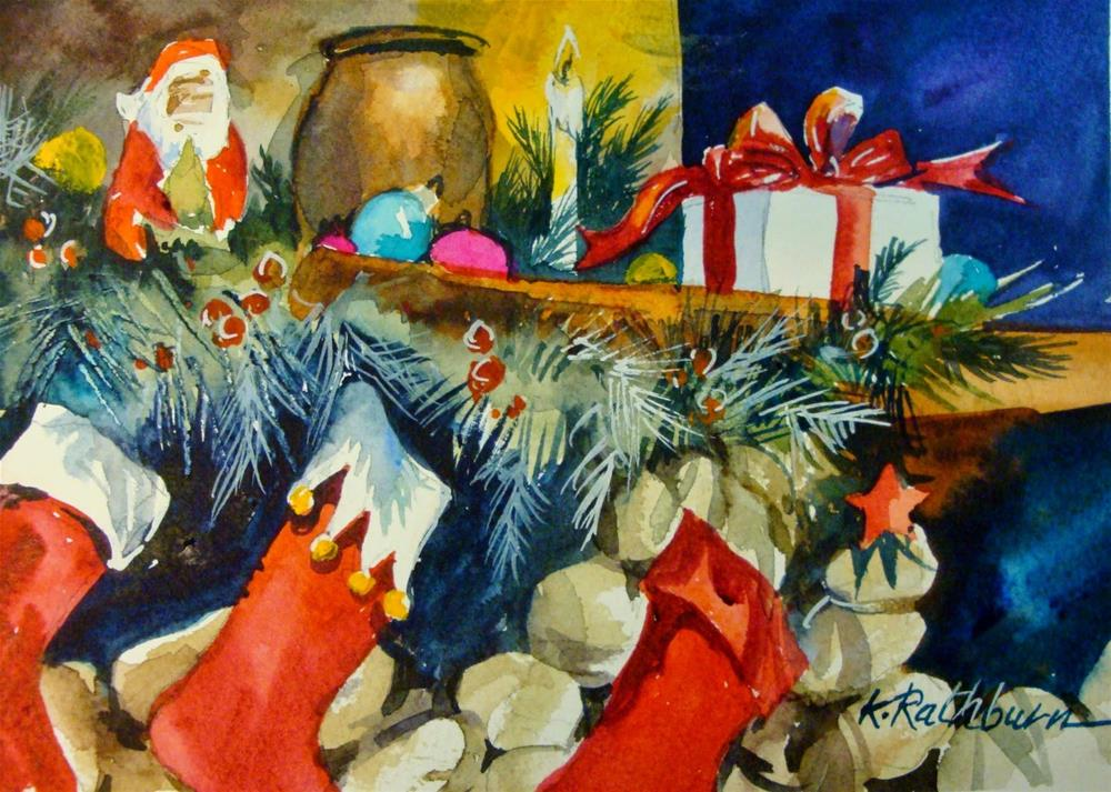 """Christmas Cheer-Painting III"" original fine art by Kathy Los-Rathburn"