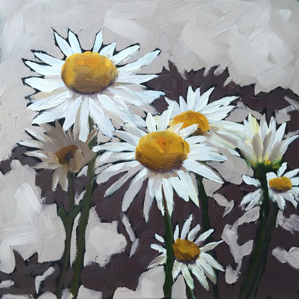 """Daisy Shadows"" original fine art by Hallie Kohn"