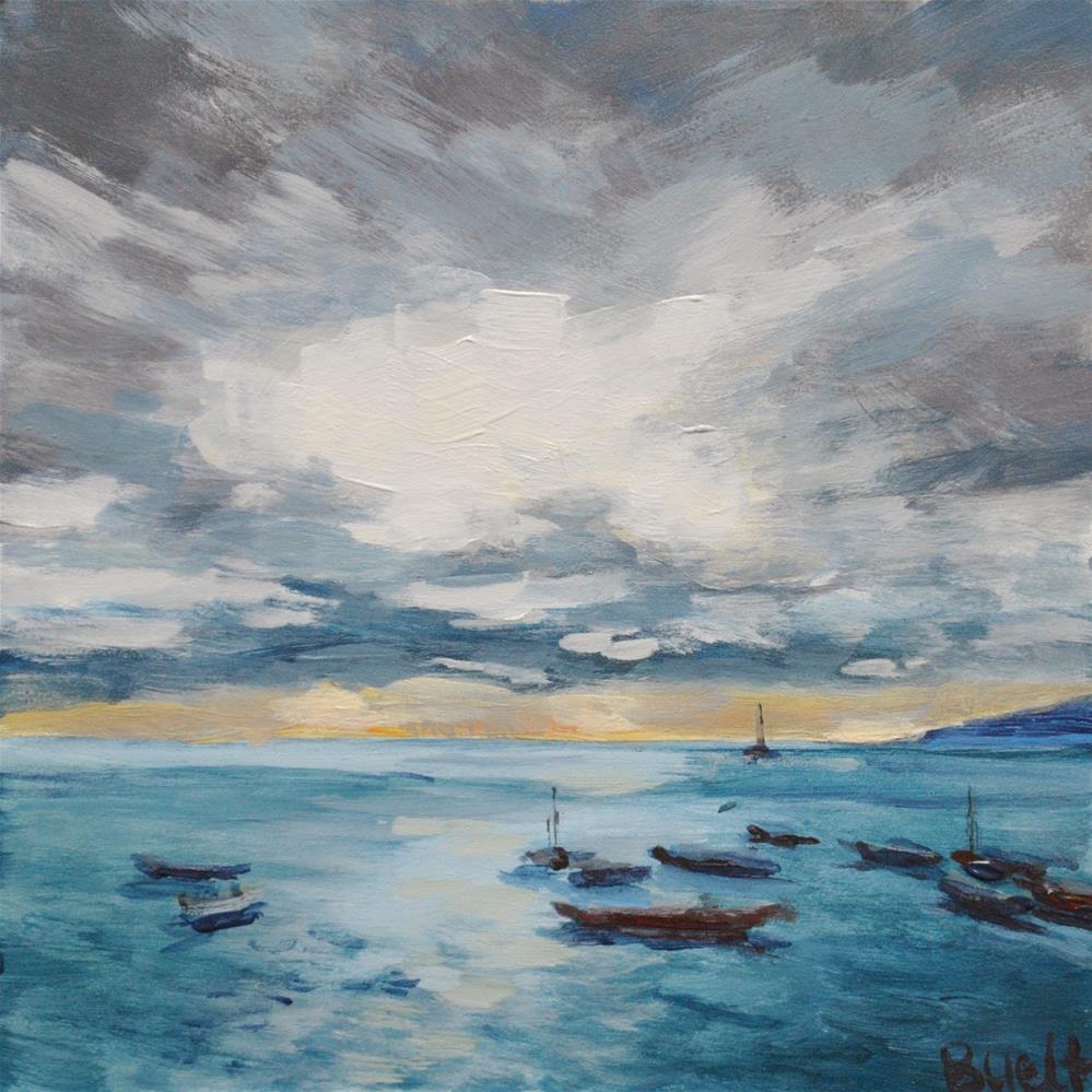 """""""Outrigger Sunset"""" original fine art by Shari Buelt"""
