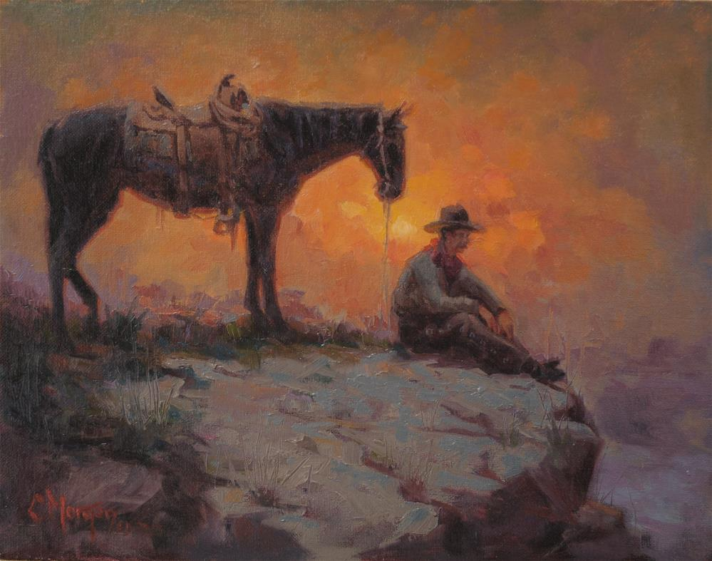 """Wrangler Memories #5"" original fine art by Cecile W. Morgan"