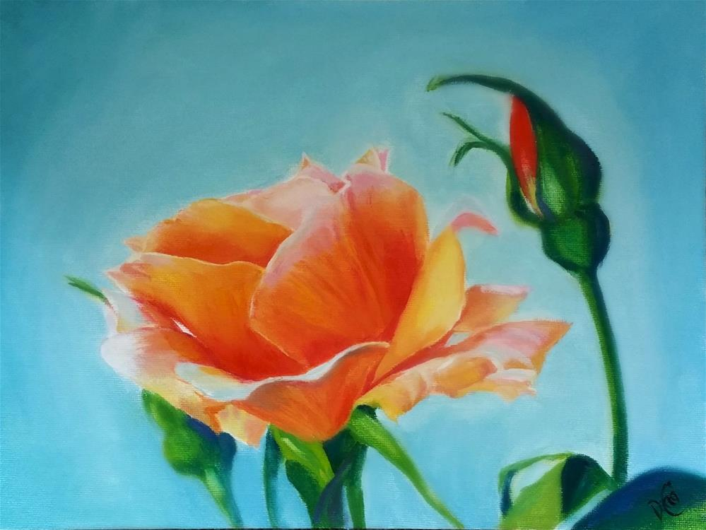 """Rose 4 U"" original fine art by Dana C"