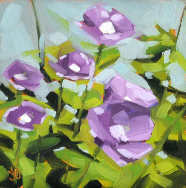 """Purple Flowers"" original fine art by Jessica Green"