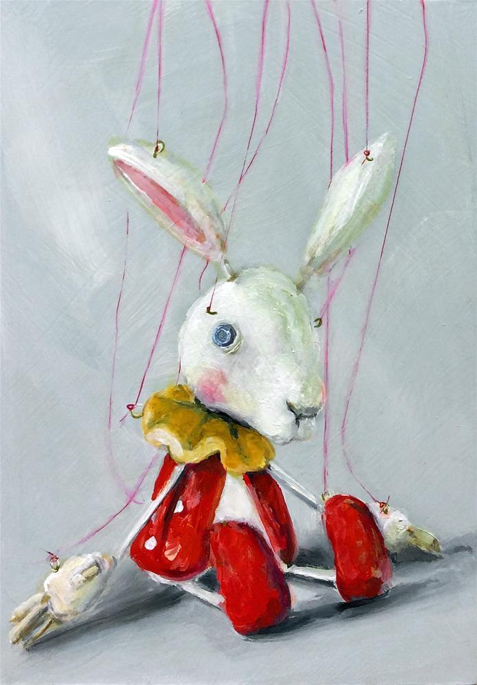 """sakuma sota marionette Rabbit II"" original fine art by Sunny Avocado"