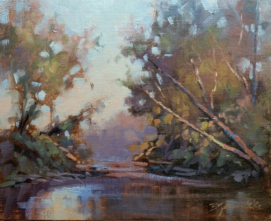 """Creekside Respite"" original fine art by Barbara Jaenicke"
