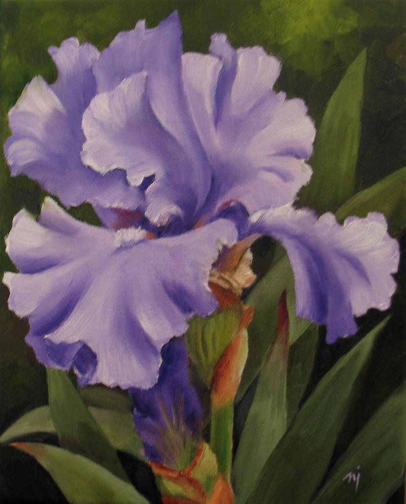 """Light Lavender Iris"" original fine art by Nel Jansen"