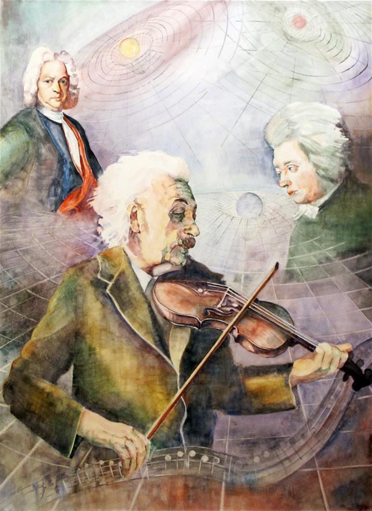 """""""Einstein's Violin"""" original fine art by  David Beale"""