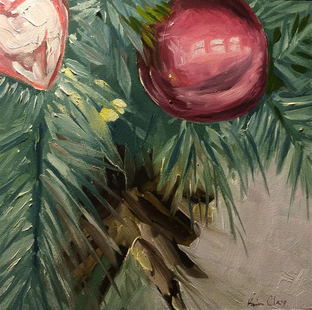 """The Quick Christmas Challenge"" original fine art by Kim Clay"