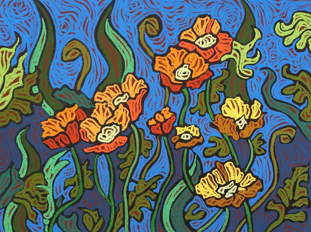 """""""Garden Gala"""" original fine art by Monique Straub"""