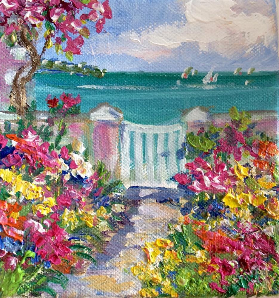 """""""White gate"""" original fine art by Sonia von Walter"""