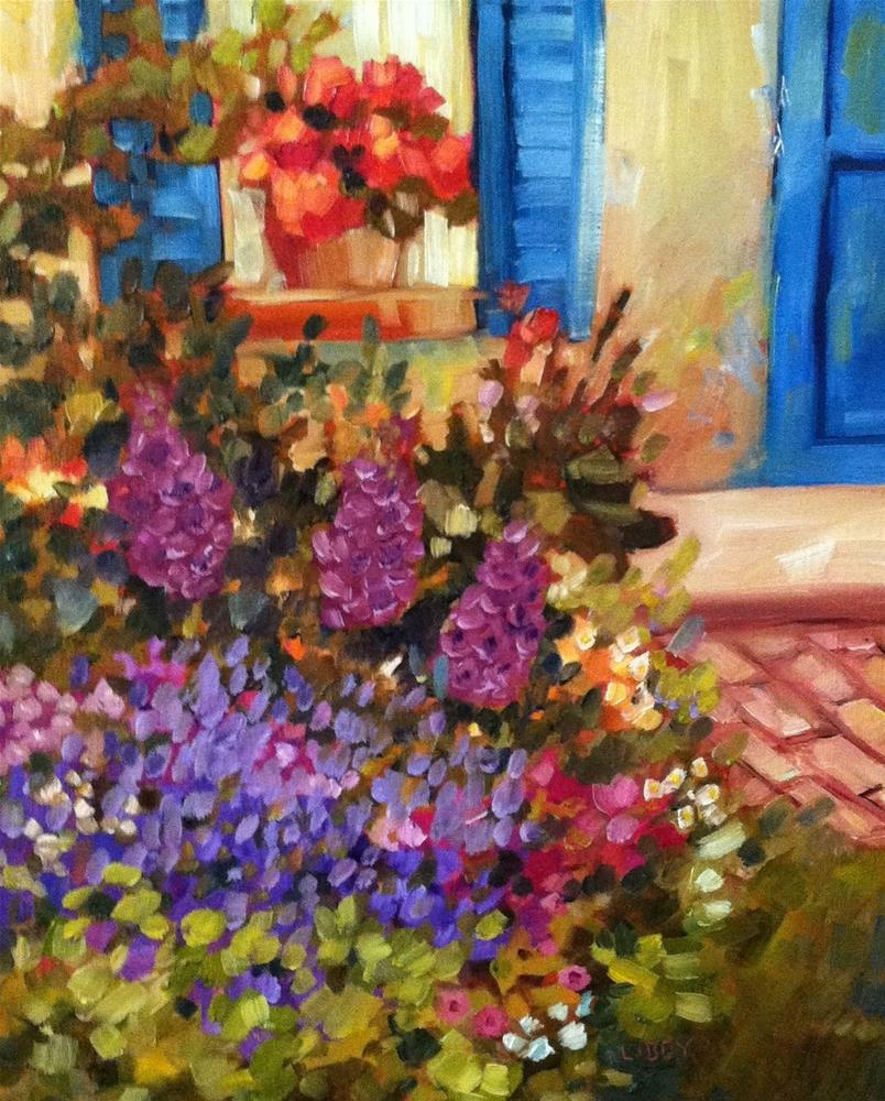 """Garden Flowers"" original fine art by Libby Anderson"