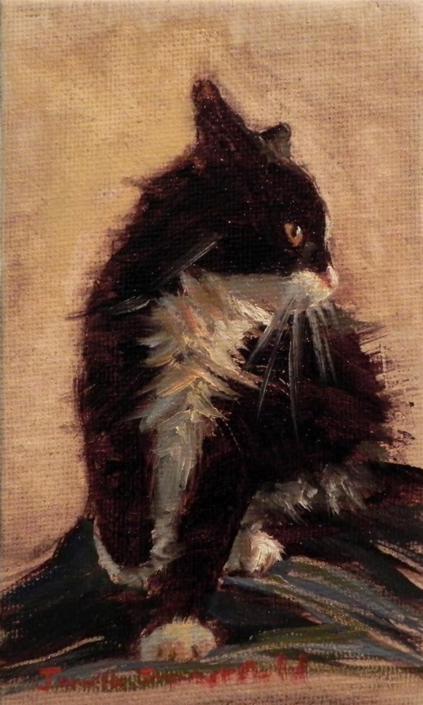 """Tiny Feisty Kitten"" original fine art by Jonelle Summerfield"