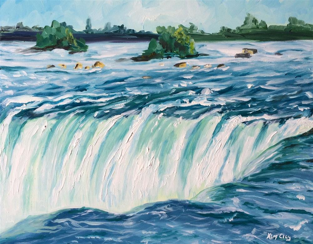 """Niagara Falls Canadian Side"" original fine art by Kim Clay"