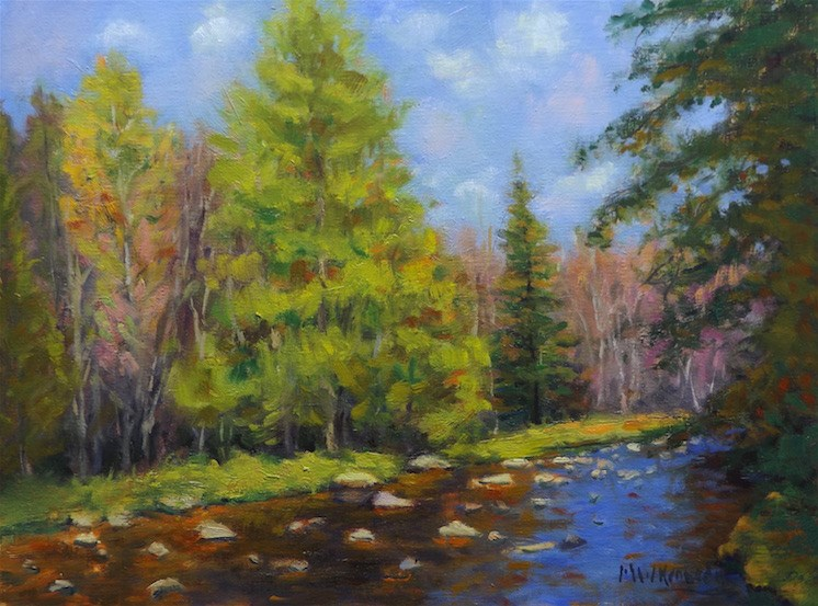"""Ashuelot River"" original fine art by Michael Kennedy"