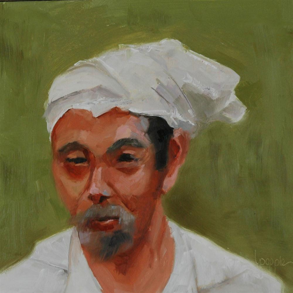 """A FACE FROM BALI"" original fine art by Linda Popple"