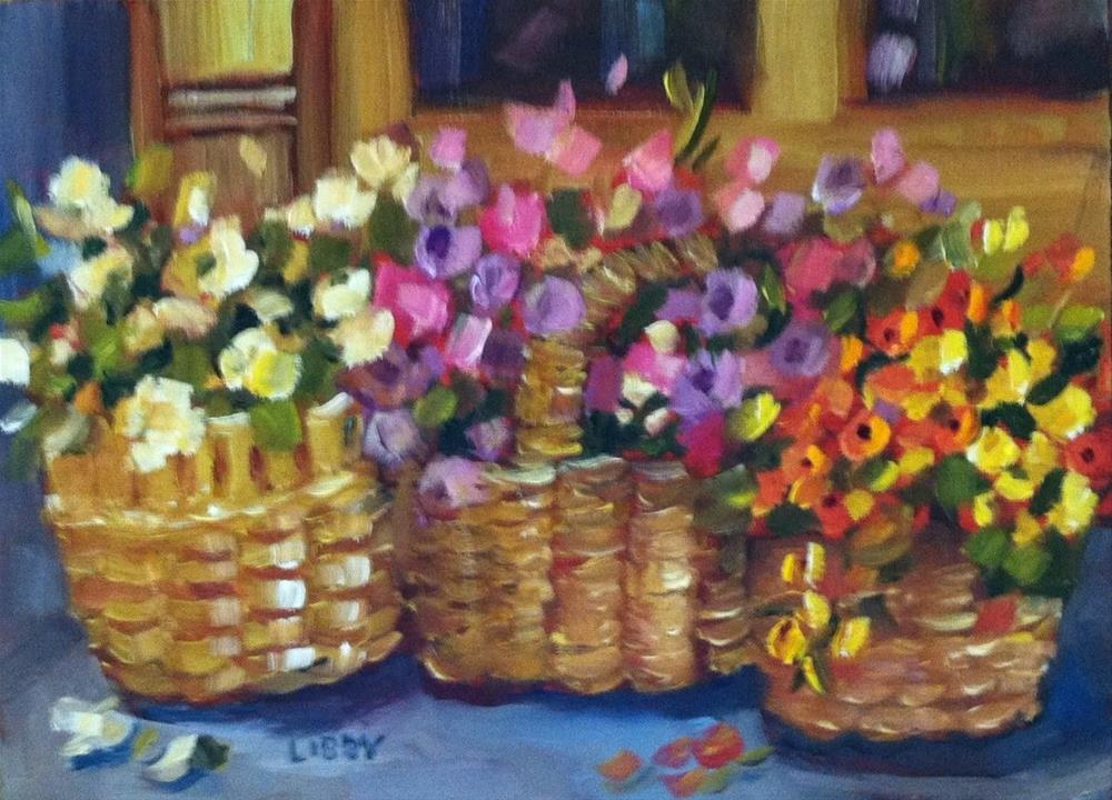 """Three Baskets"" original fine art by Libby Anderson"