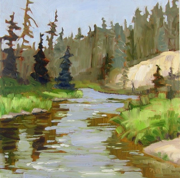 """Kingsmere River, P.A.N.P."" original fine art by Nicki Ault"