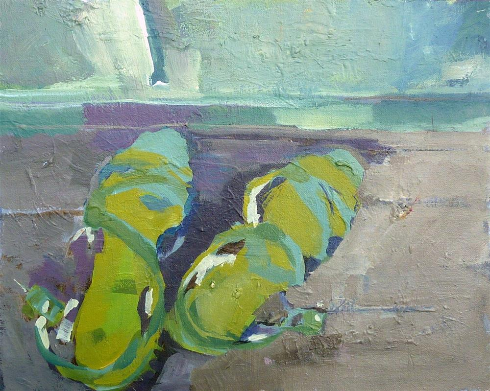 """grüne Schuhe / green shoes"" original fine art by Mila Plaickner"