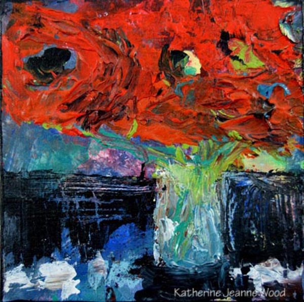 """Flower Series No 27"" original fine art by Katie Jeanne Wood"