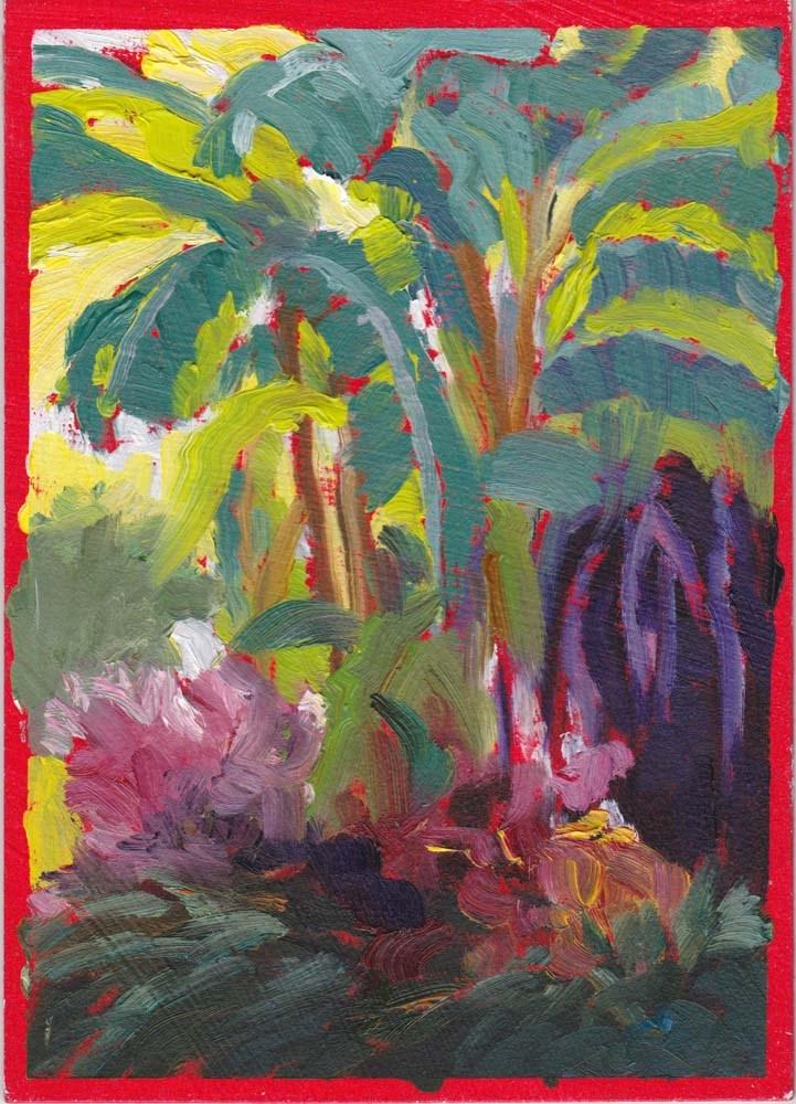 """Study for Banana Plan"" original fine art by Lucinda Howe"