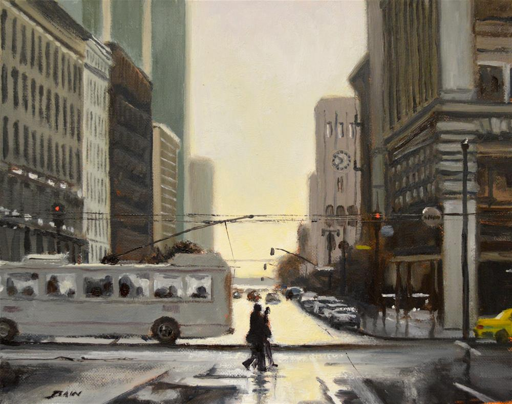 """San Fran Gold"" original fine art by Peter Bain"
