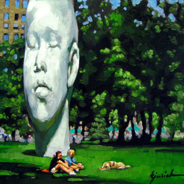 """Head of Parks & Recreation"" original fine art by Karin Jurick"
