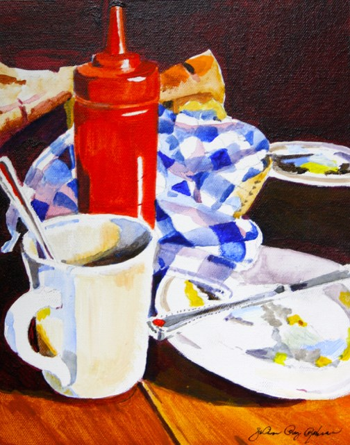 """Diner Food"" original fine art by JoAnne Perez Robinson"