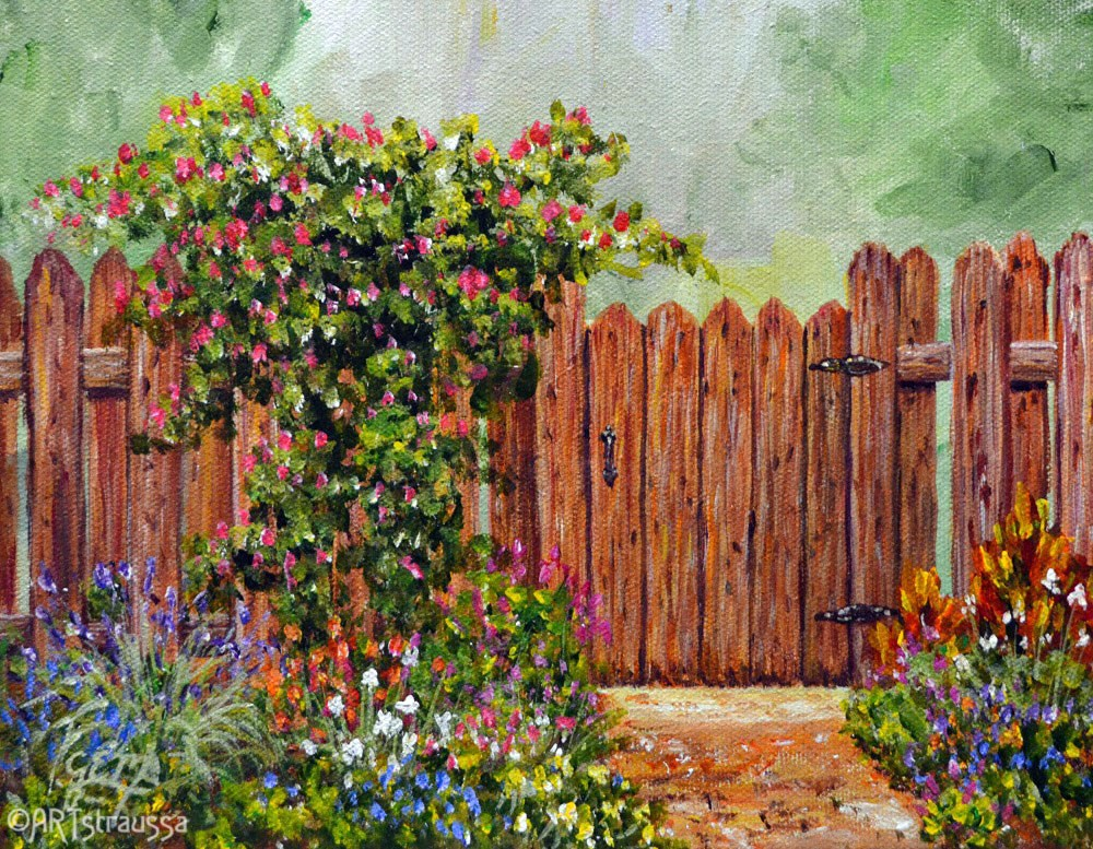 """Helga's Garden"" original fine art by Gloria Ester"