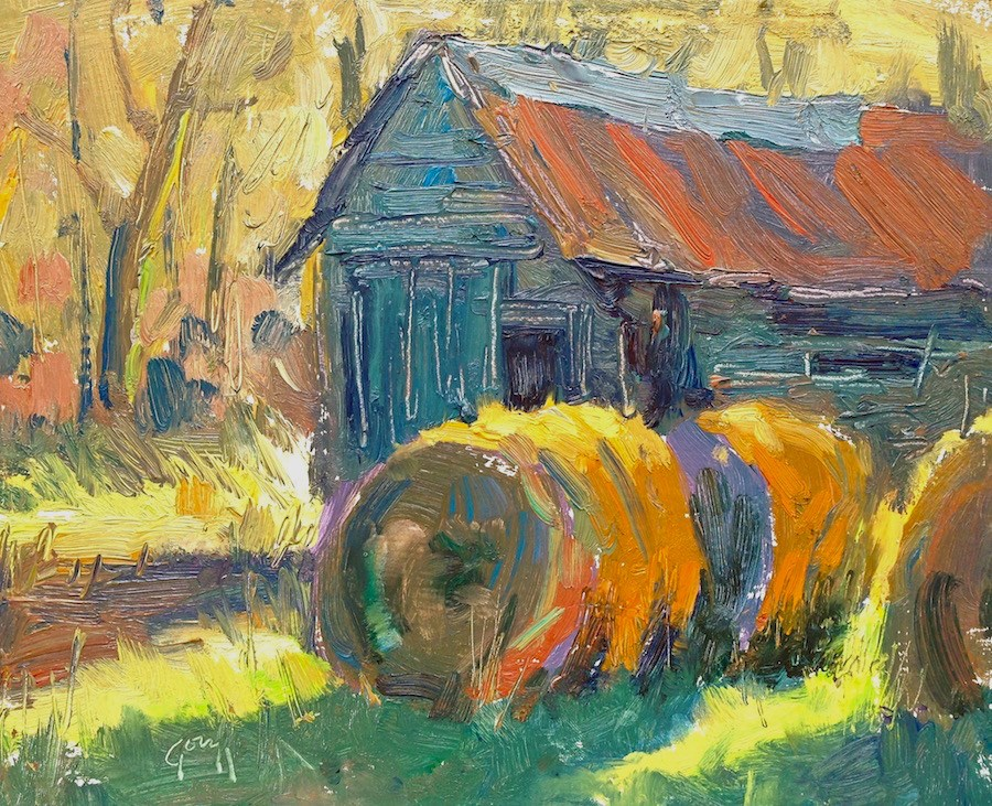 """Sunny Barn"" original fine art by Doug Gorrell"