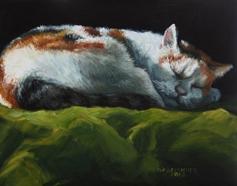 """""""Calico Cat"""" original fine art by Sue Deutscher"""