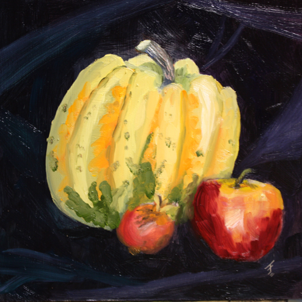 """Harvest Trio"" original fine art by Jane Frederick"