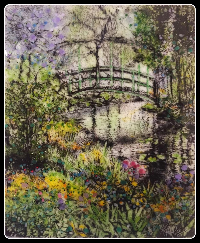 """Monet's Pond"" original fine art by Kelly Alge"