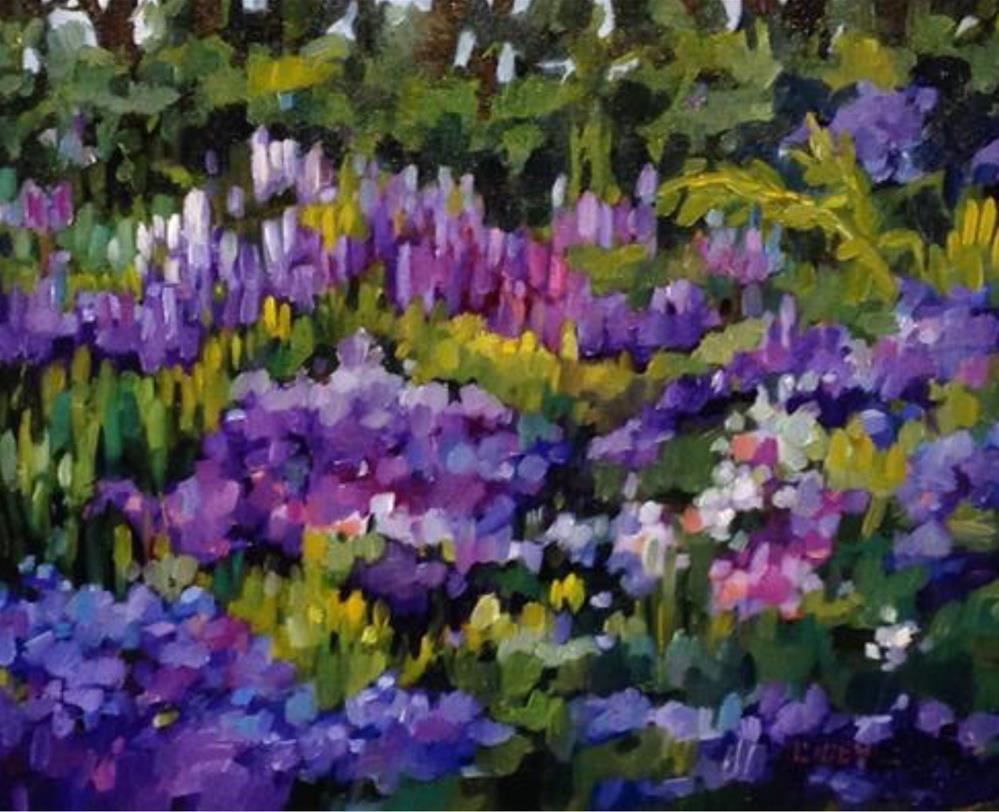 """Evening Garden"" original fine art by Libby Anderson"